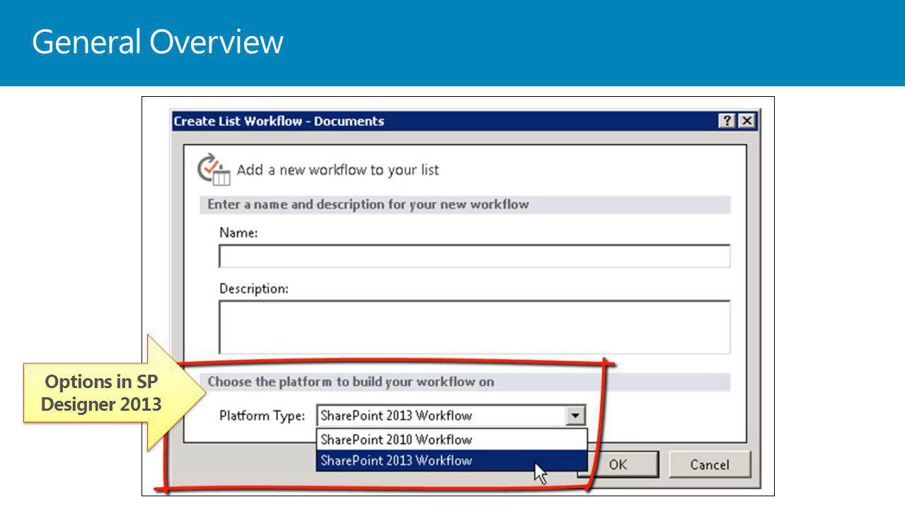 General Overview Options in SP Designer 2013