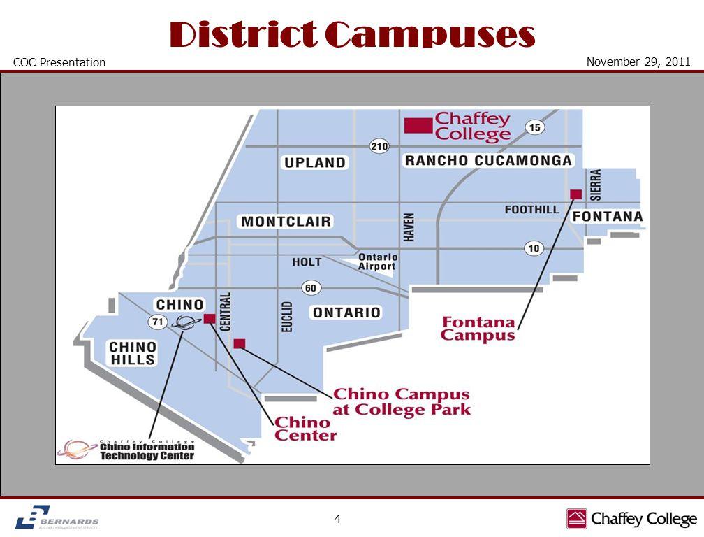 District Campuses 4 COC Presentation November 29, 2011