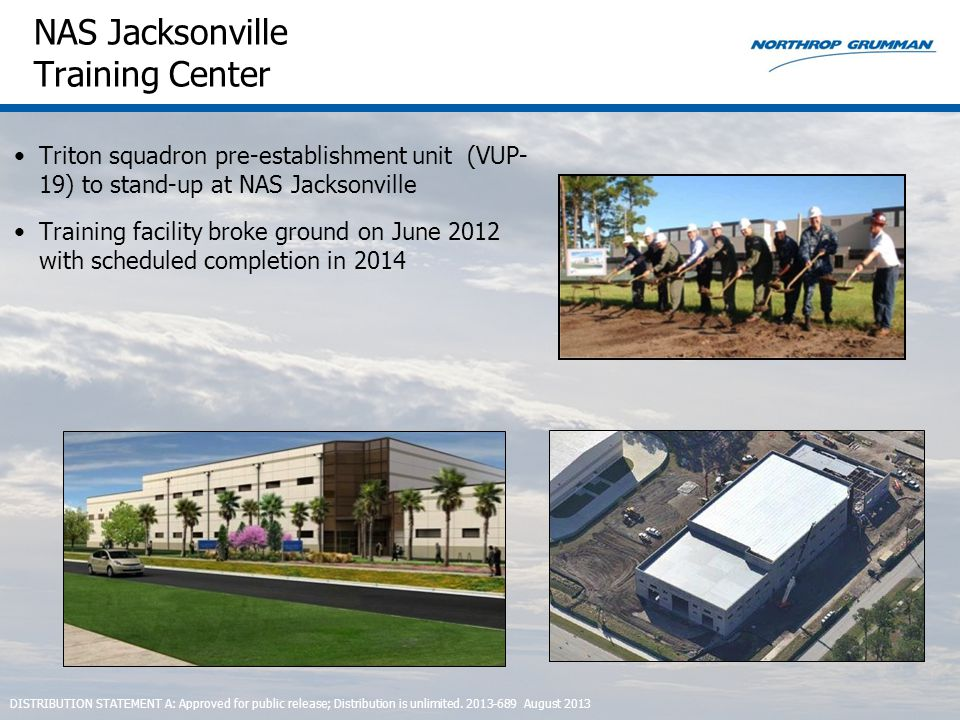 NAS Jacksonville Training Center Triton squadron pre-establishment unit (VUP- 19) to stand-up at NAS Jacksonville Training facility broke ground on Ju