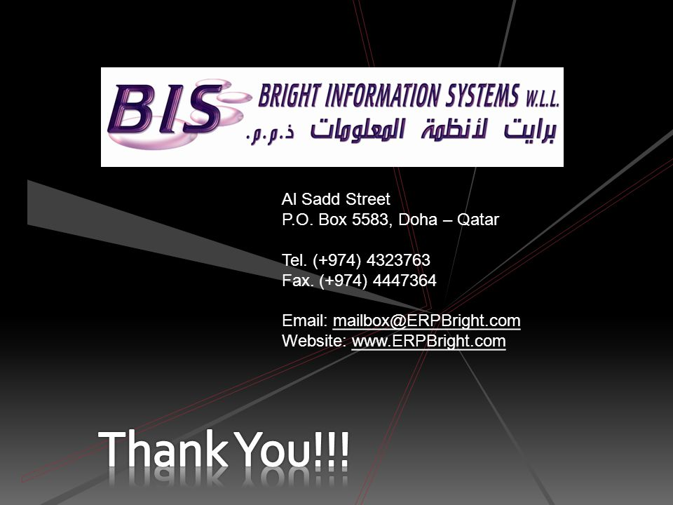 Bright Information Systems © 2011 - enabling us to advise and implement the most up- to-date solutions for our customers. We have a team of highly qua