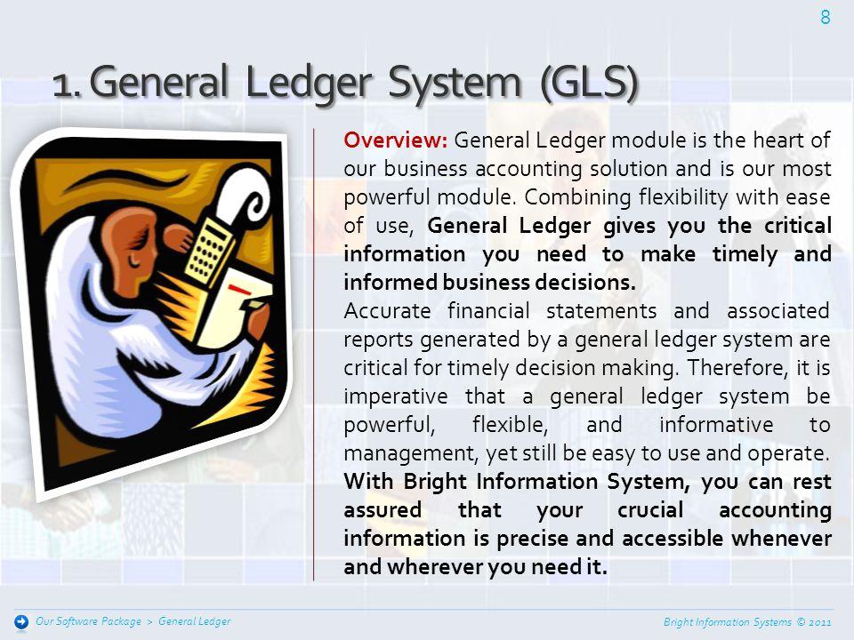 General Ledger / Budget Management system Fixed Assets Management system Purchase / Order Management system Sales Management system Stock Control Mana