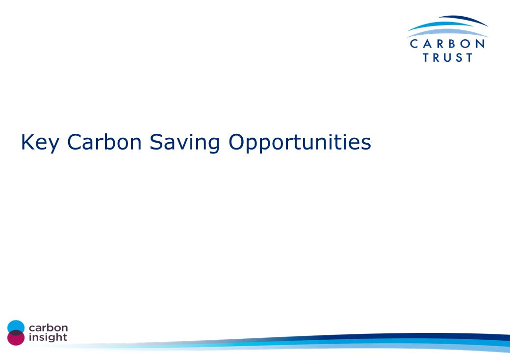 Key Carbon Saving Opportunities
