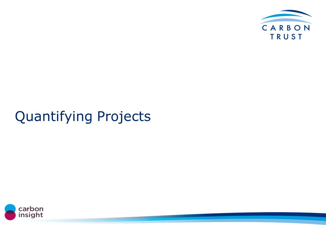 Quantifying Projects