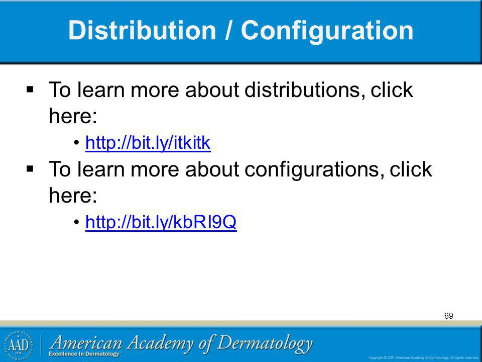 Distribution / Configuration To learn more about distributions, click here: http://bit.ly/itkitk To learn more about configurations, click here: http:
