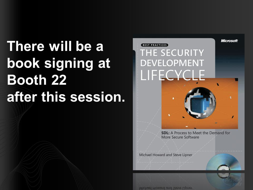 There will be a book signing at Booth 22 after this session.