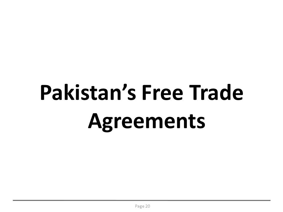 Pakistans Free Trade Agreements Page 20