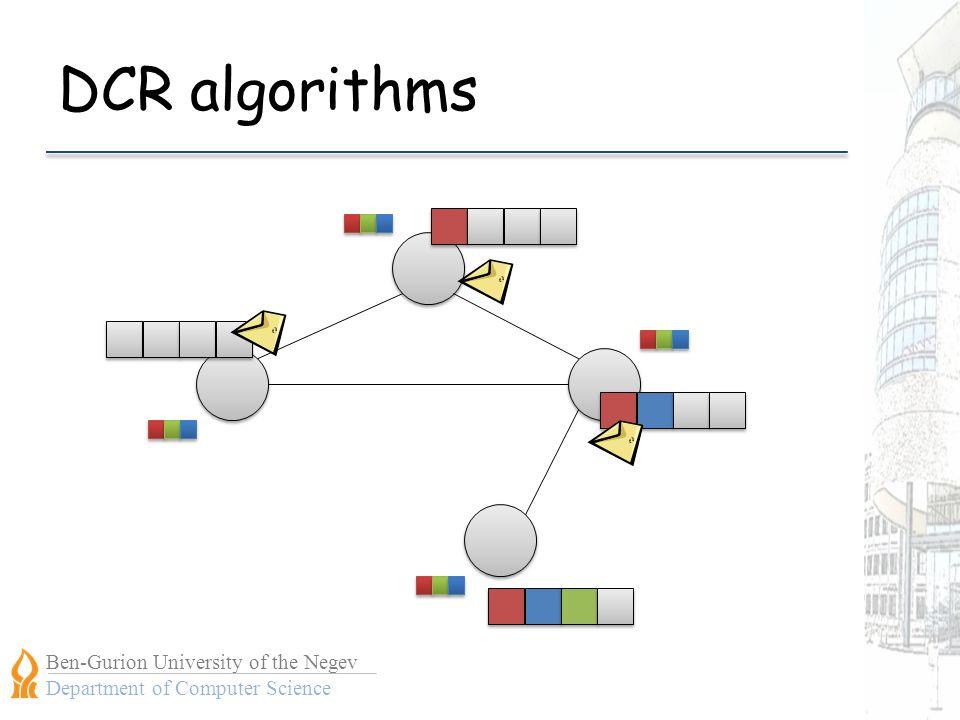 Ben-Gurion University of the Negev Department of Computer Science DCR algorithms