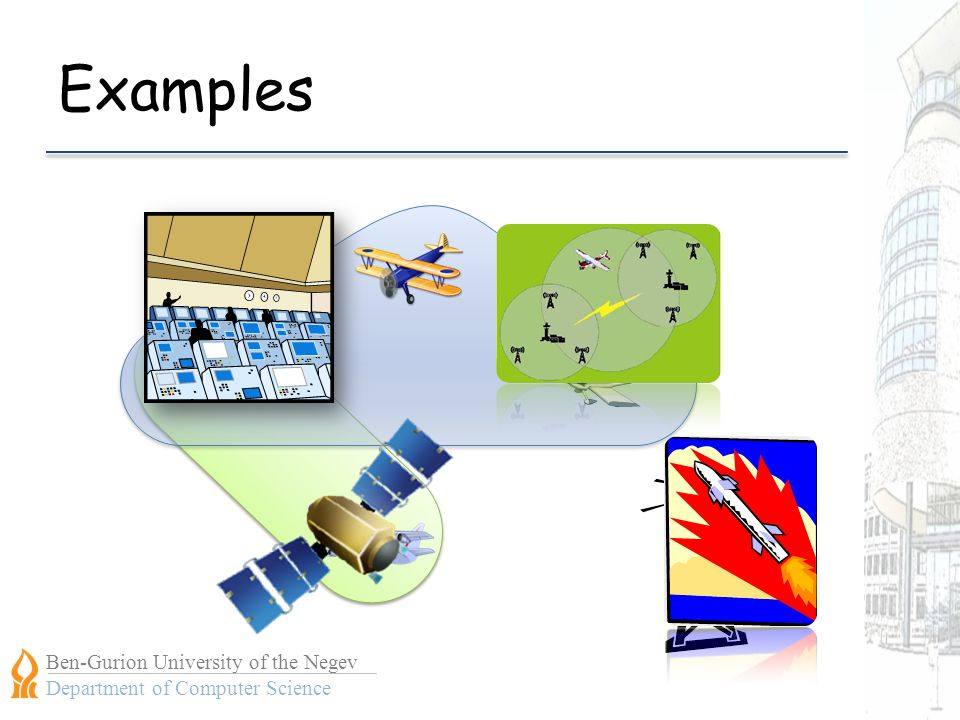 Ben-Gurion University of the Negev Department of Computer Science Examples