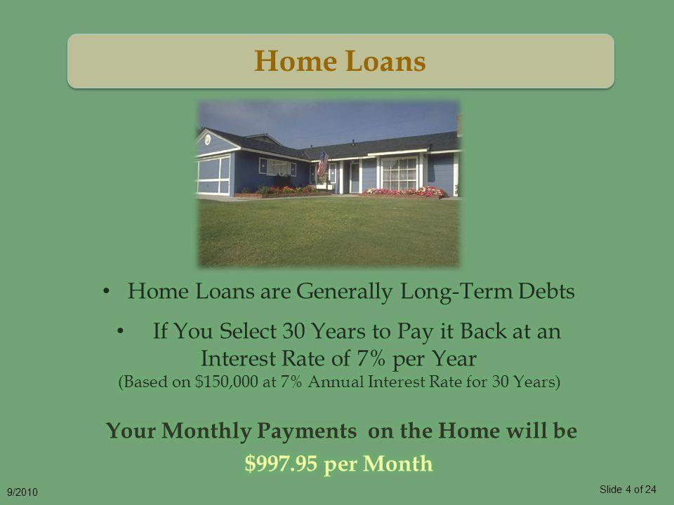 Slide 5 of 24 9/2010 Automobile Loans