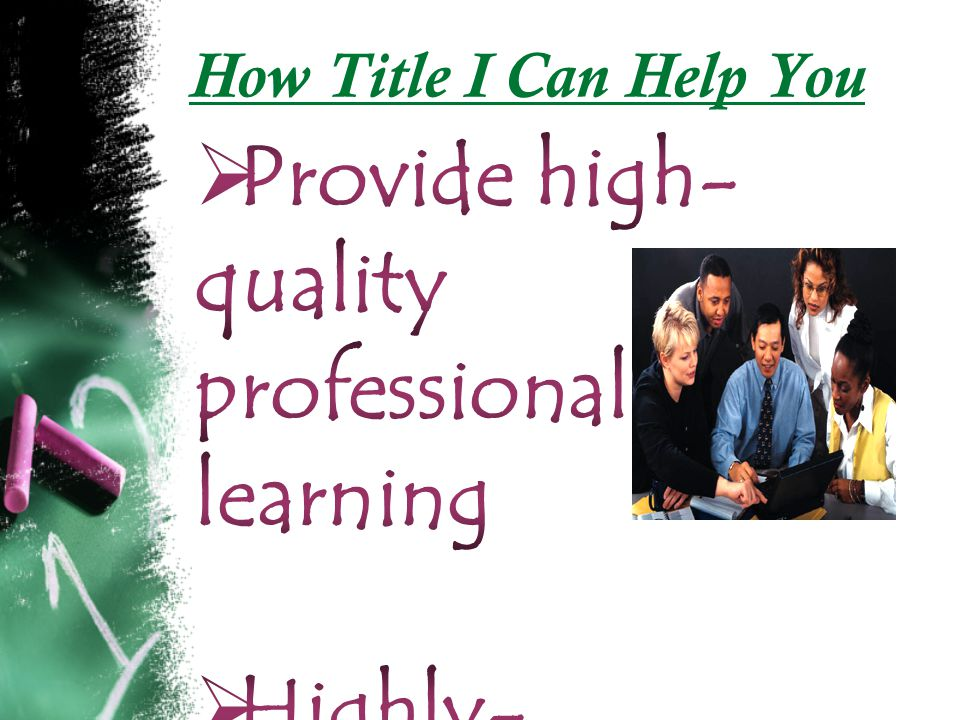 How Title I Can Help You