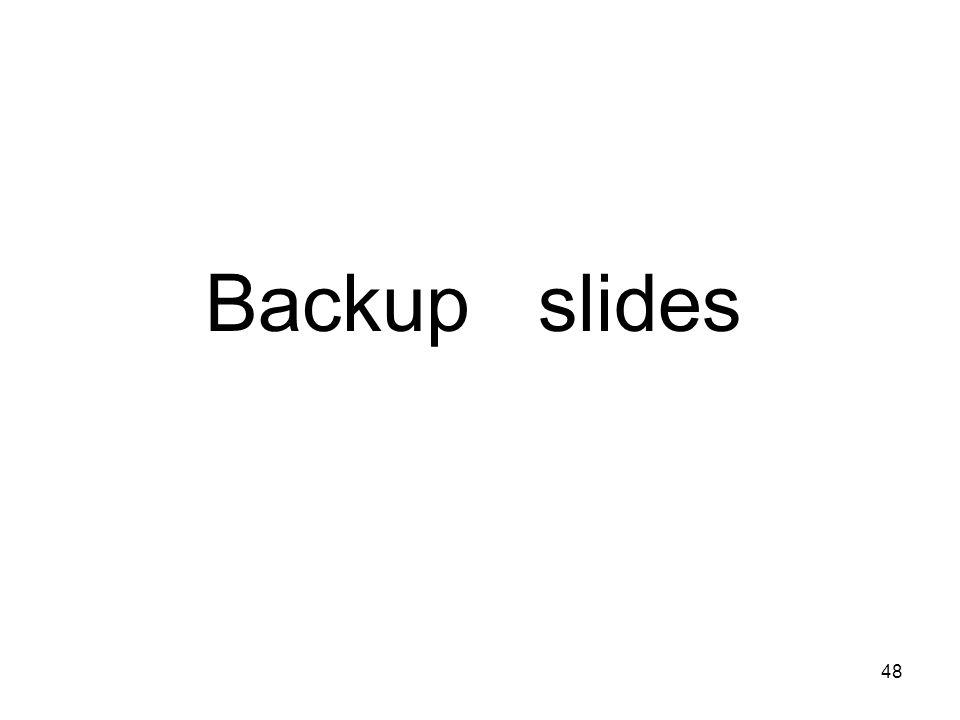 Title of talk48 Backup slides