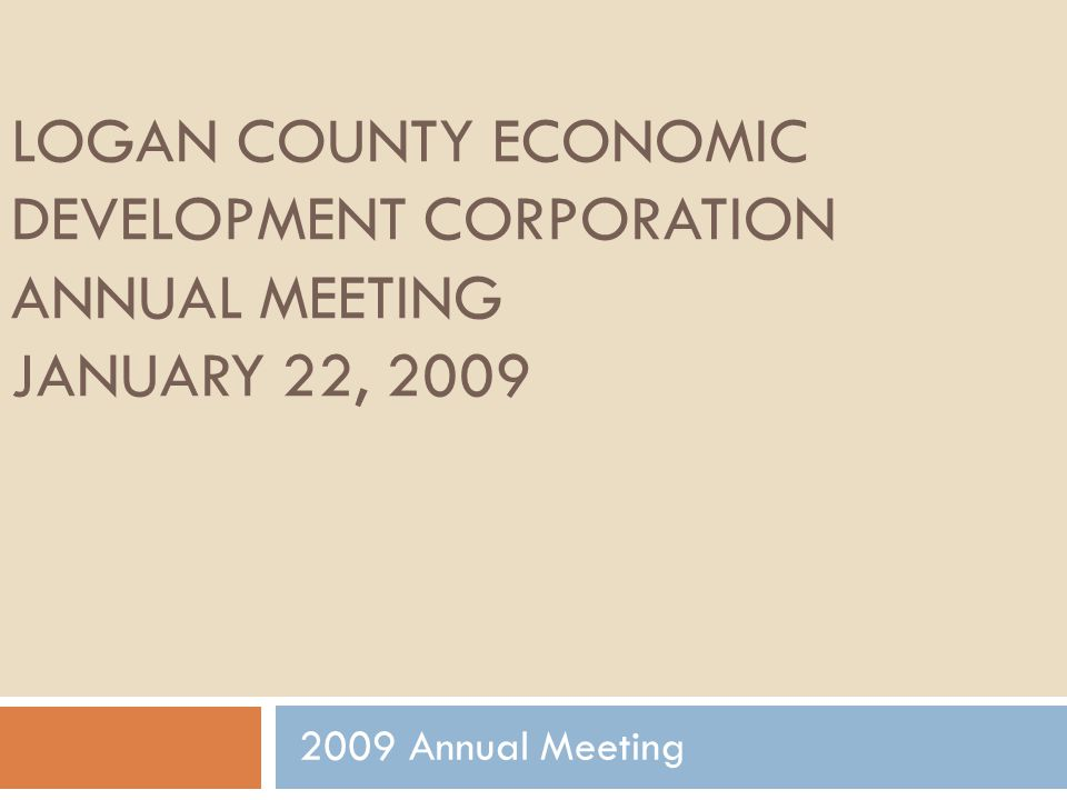 NECALG Annual Report NECALG reported over $16,300,000 in new, qualified capital investments in Logan County.