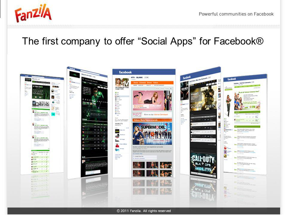 The first company to offer Social Apps for Facebook®