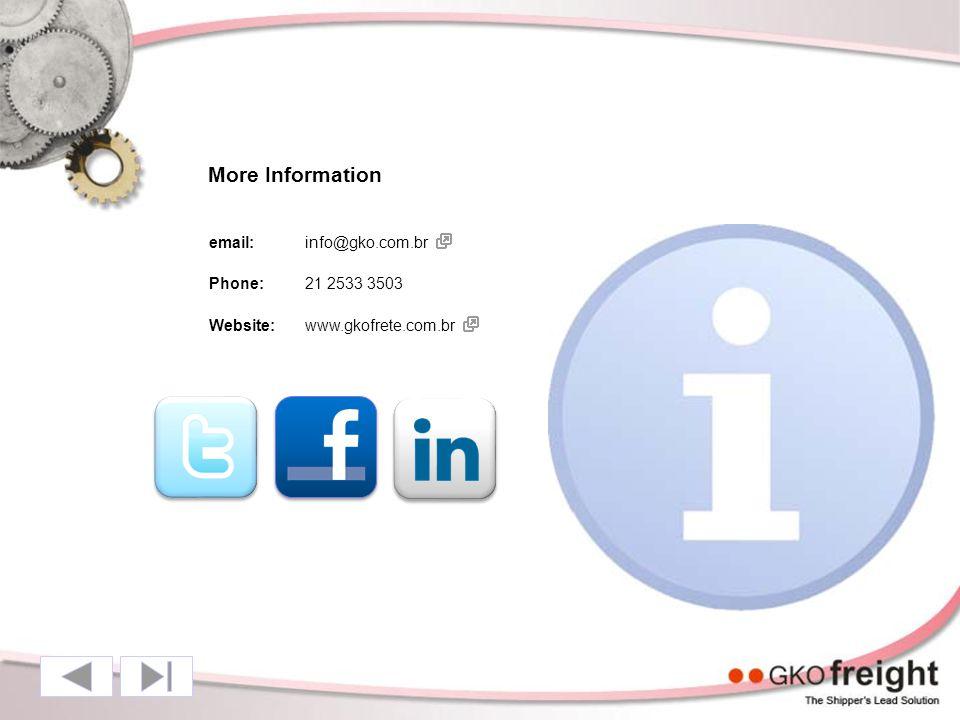 More Information email:info@gko.com.br Phone:21 2533 3503 Website:www.gkofrete.com.br