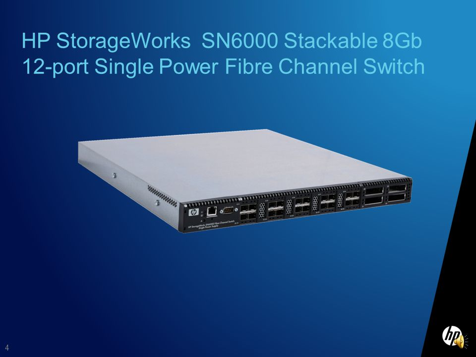 Whats new for HP Technology Forum? 3 July 2010 –Increased flexibility New! 12 port model of the HP StorageWorks SN6000 FC Switch –Enhanced functionali