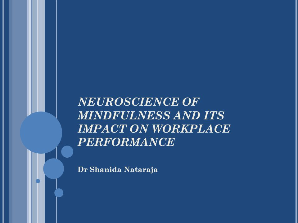 Dr Shanida Nataraja NEUROSCIENCE OF MINDFULNESS AND ITS IMPACT ON WORKPLACE PERFORMANCE