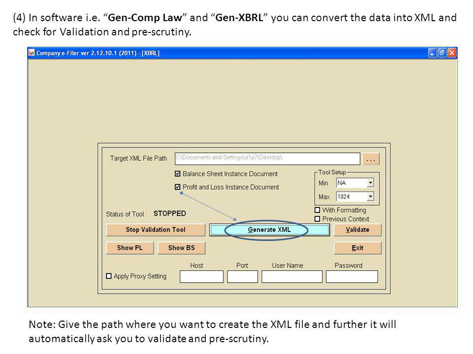 Here you need to convert the data saved in utility to XML file through our Softwares Gen- Comp Law or Gen-XBRL they have the same features as Gen-XBRL