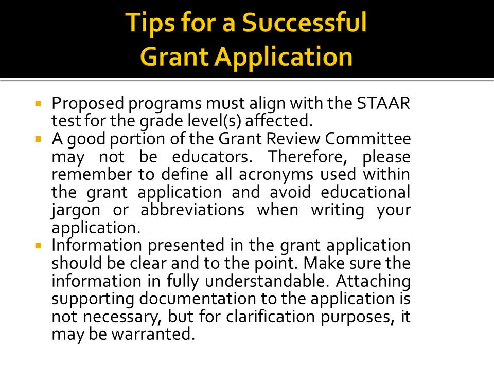 Proposed programs must align with the STAAR test for the grade level(s) affected.