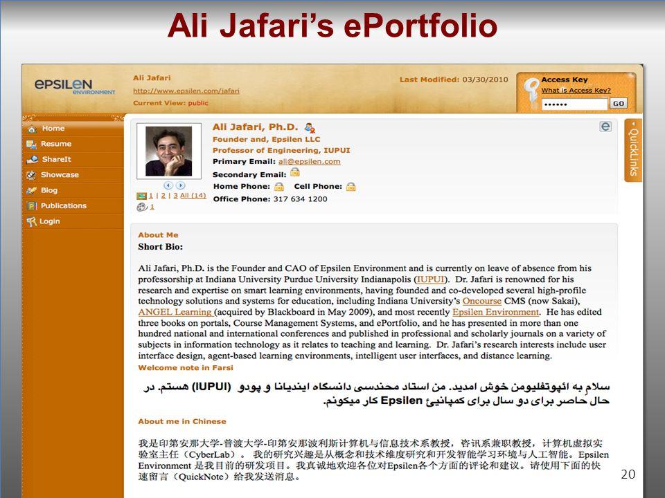 20 Ali Jafaris ePortfolio 20
