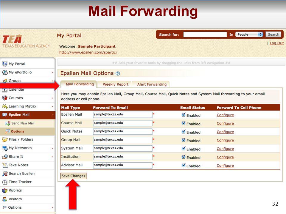 32 Mail Forwarding 32