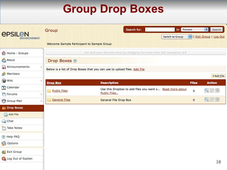 38 Group Drop Boxes 38