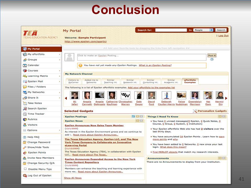 41 Conclusion 41