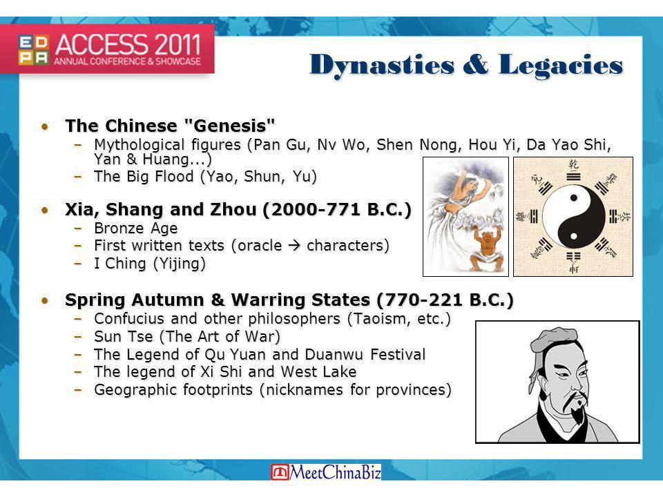 Dynasties & Legacies The Chinese