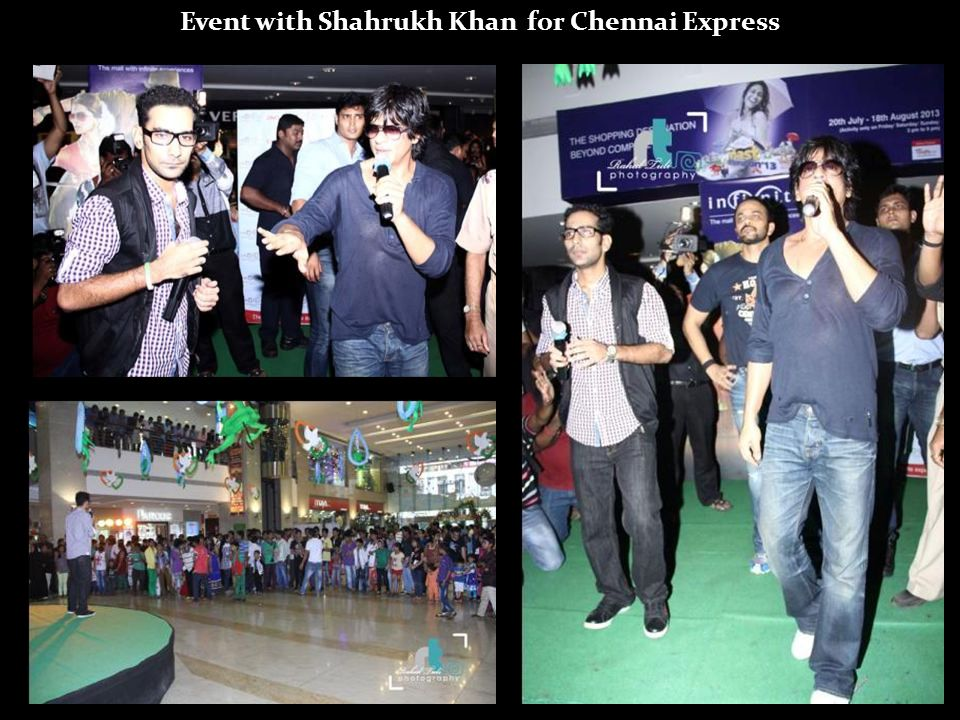 Event with Shahrukh Khan for Chennai Express