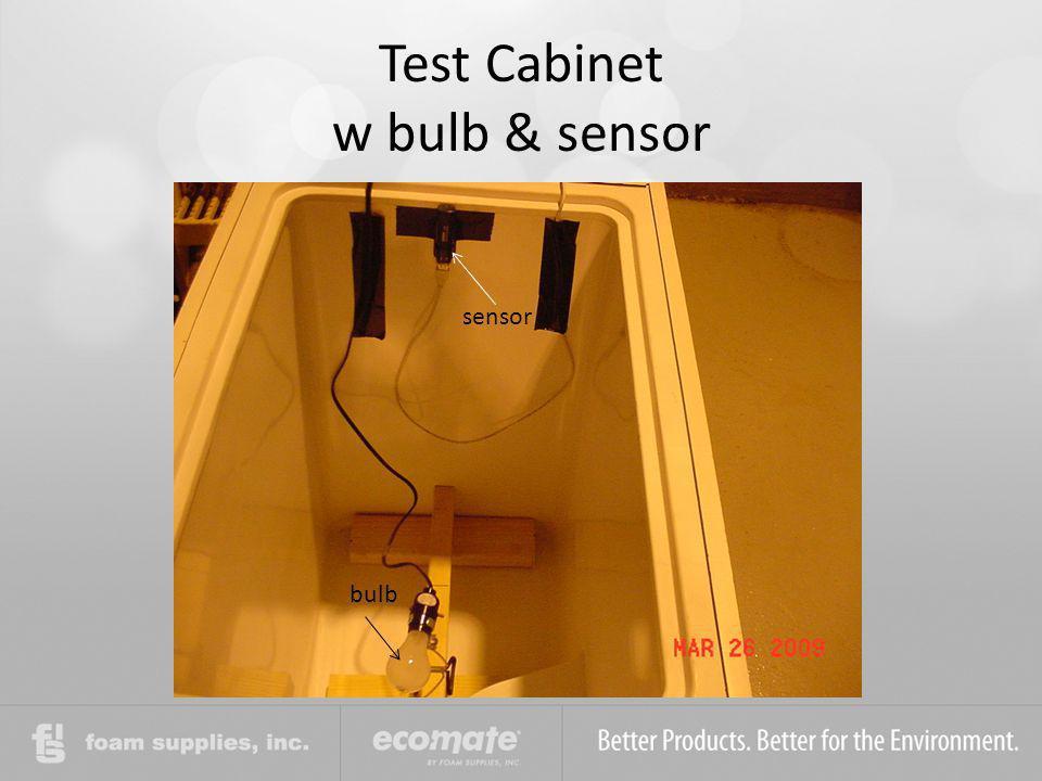 Test Cabinet w bulb & sensor sensor bulb