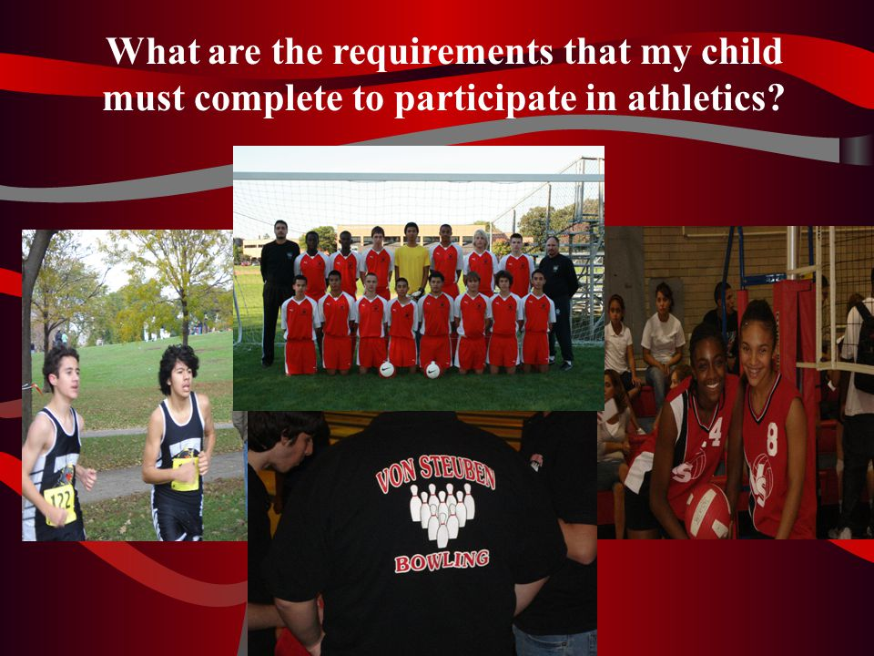 STUDENTS: Have your parents visit our school website… www.vonsteuben.org And click on Athletics to see this presentation THANK YOU!!