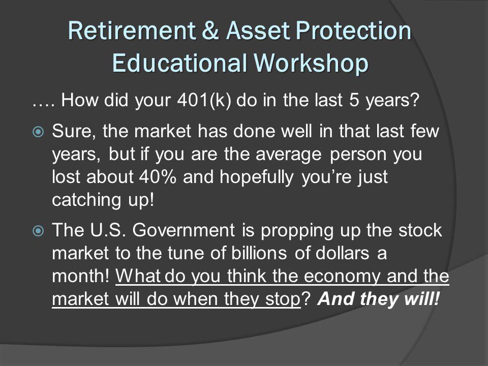 Retirement & Asset Protection Educational Workshop ….