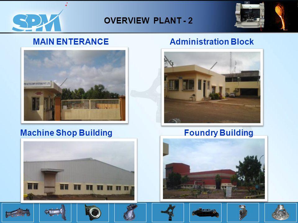 OVERVIEW PLANT - 2 MAIN ENTERANCE Machine Shop Building Administration Block Foundry Building