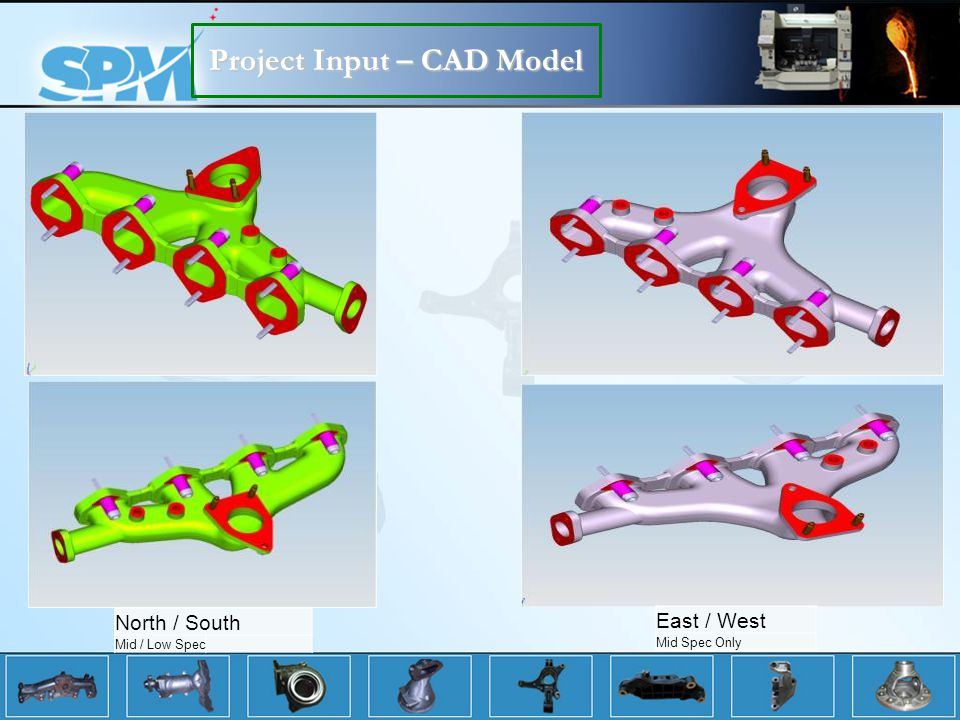 Project Input – CAD Model North / South Mid / Low Spec East / West Mid Spec Only