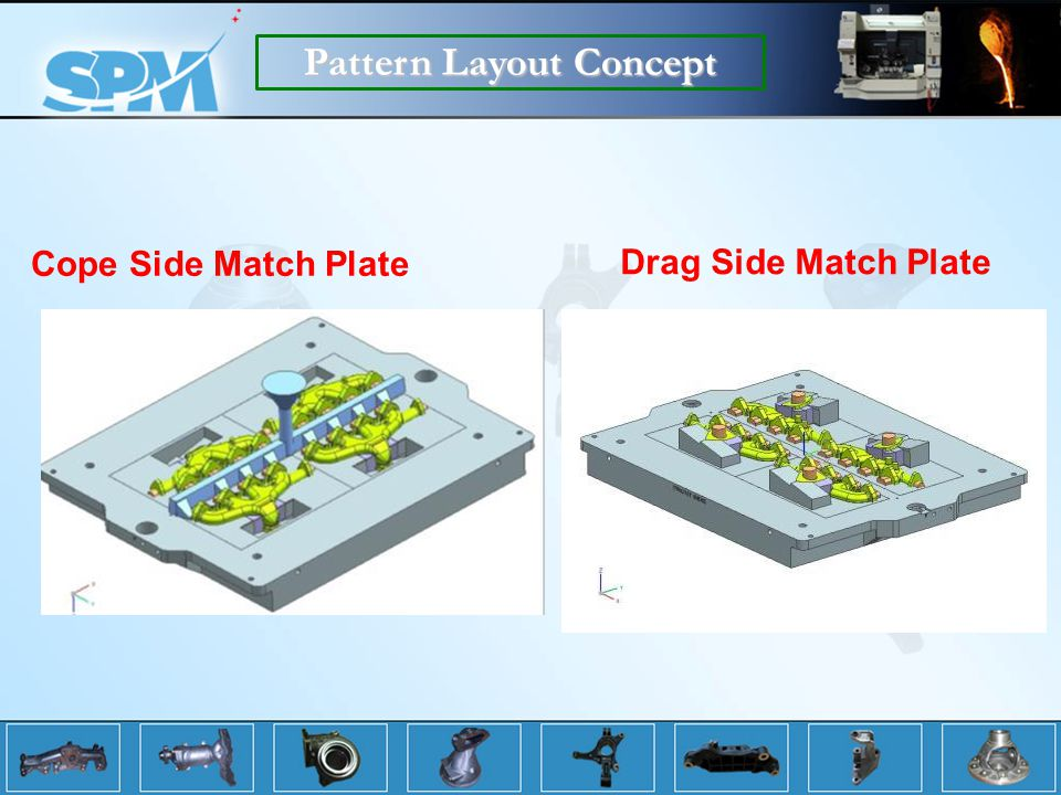 Cope Side Match Plate Pattern Layout Concept Drag Side Match Plate