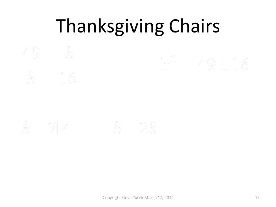 Thanksgiving Chairs Copyright Steve Yurek March 17, 201415