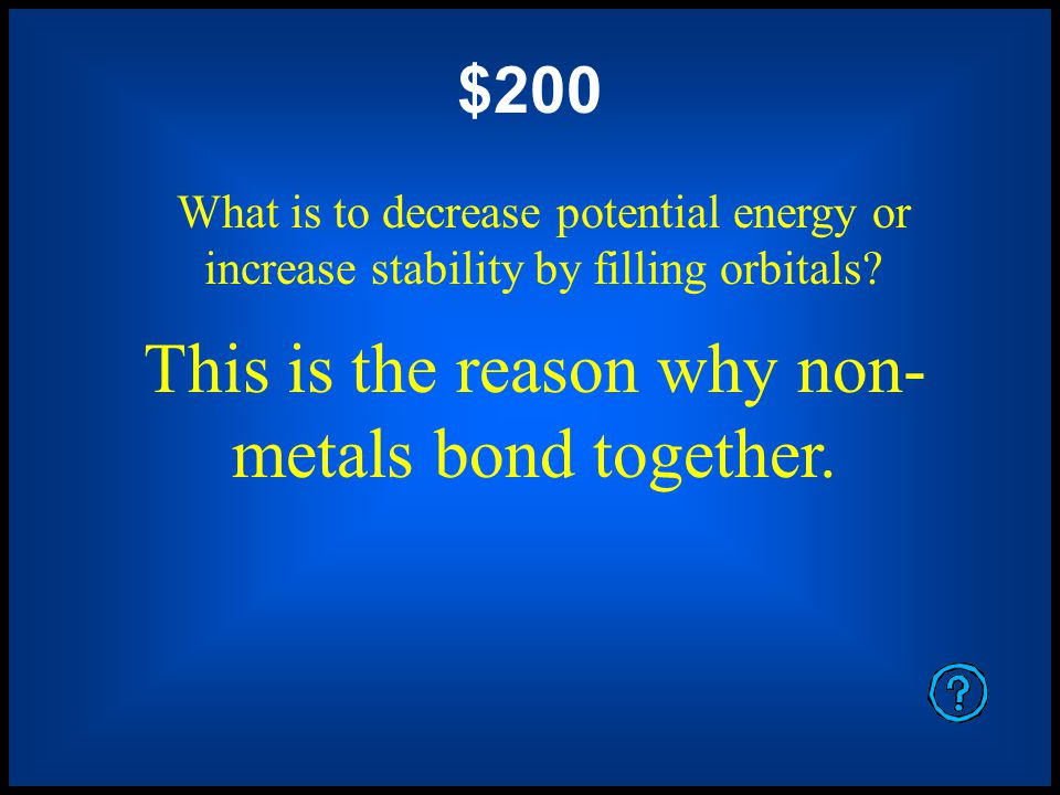 $1000 What are all column IA elements EXCEPT hydrogen These are the alkali metals.