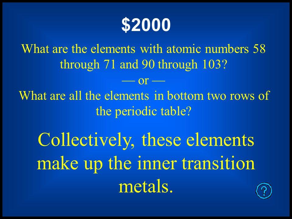 $1600 What are oxygen, sulfur, selenium, tellurium, and polonium.