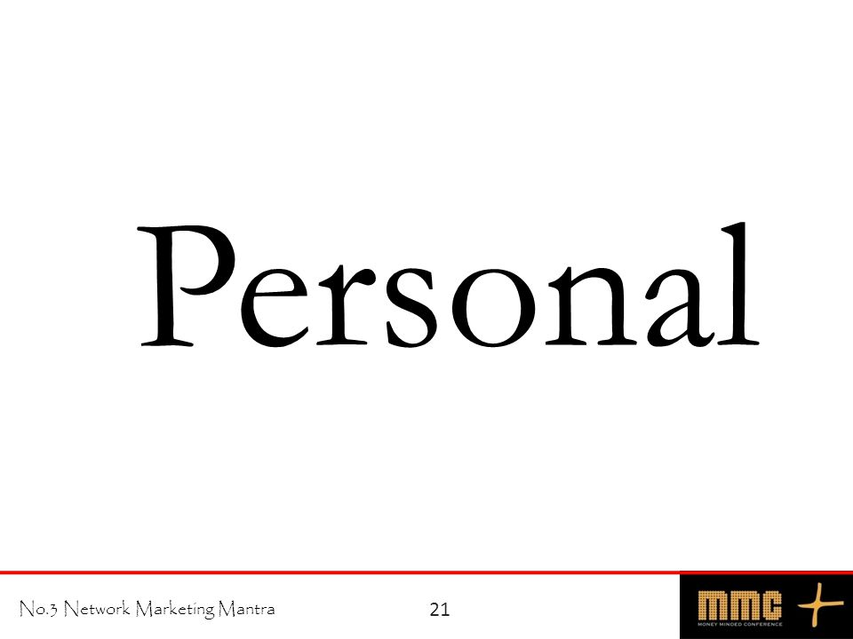 No.3 Network Marketing Mantra Personal 21