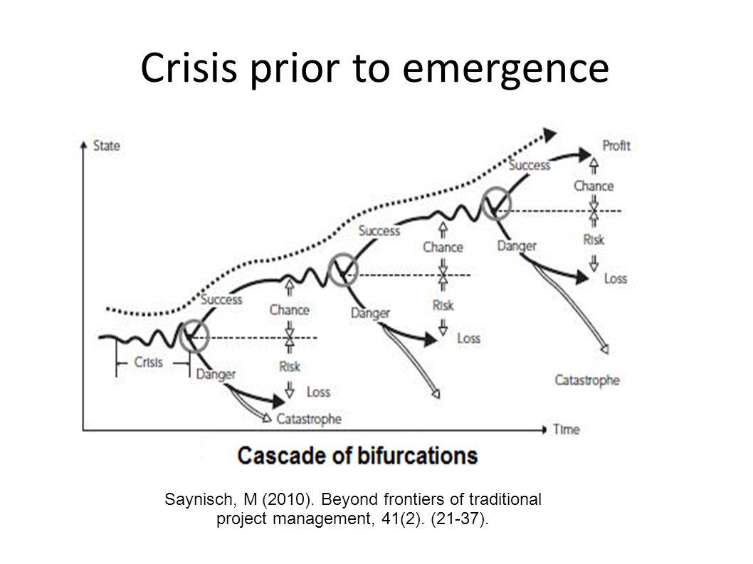 Crisis prior to emergence Saynisch, M (2010).