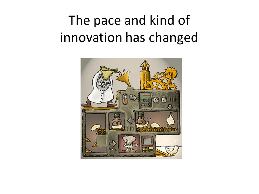 The pace and kind of innovation has changed