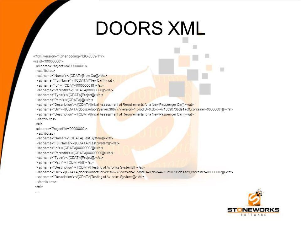 DOORS XML ….
