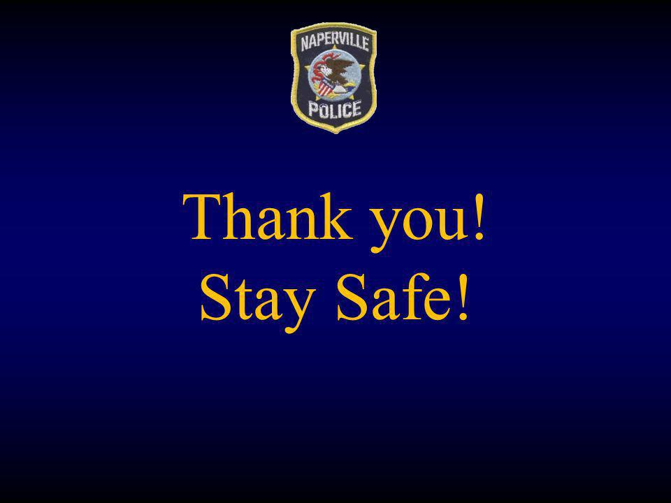 Thank you! Stay Safe!