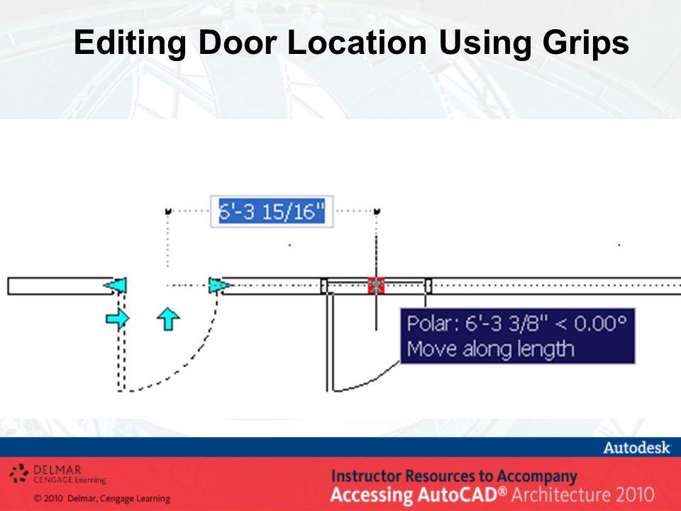 Editing Door Location Using Grips