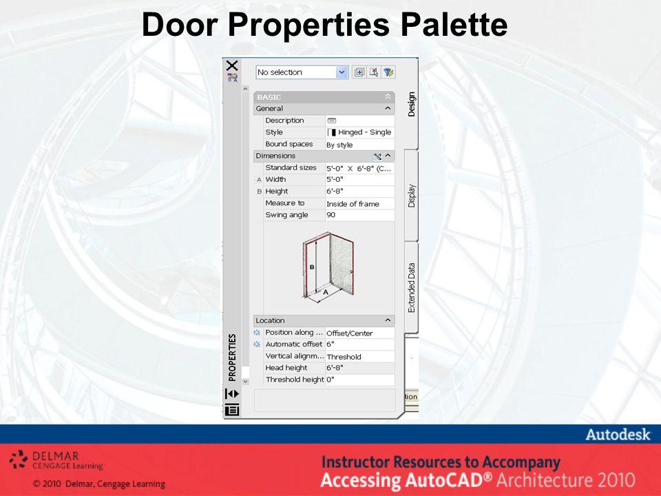 Door Properties Palette