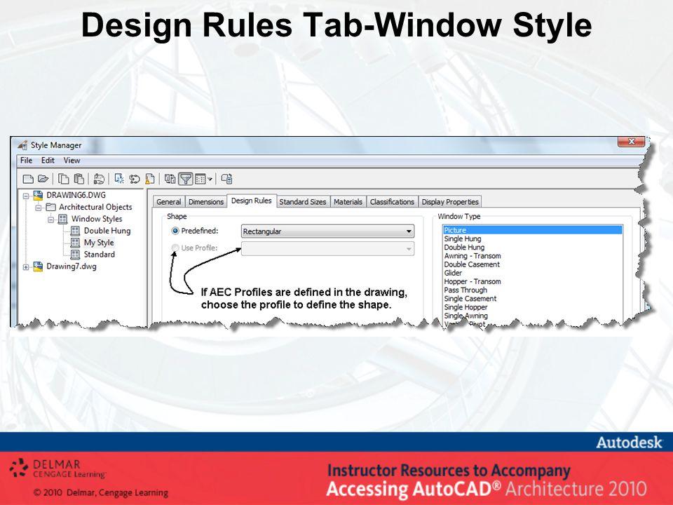 Design Rules Tab-Window Style