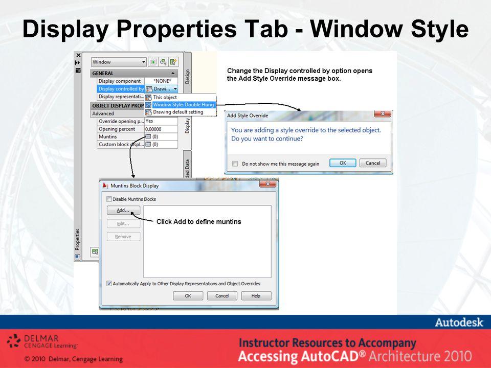 Display Properties Tab - Window Style