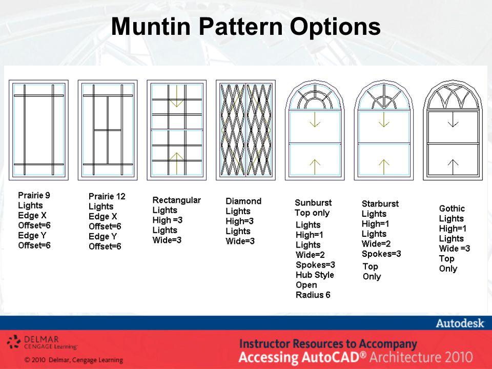 Muntin Pattern Options