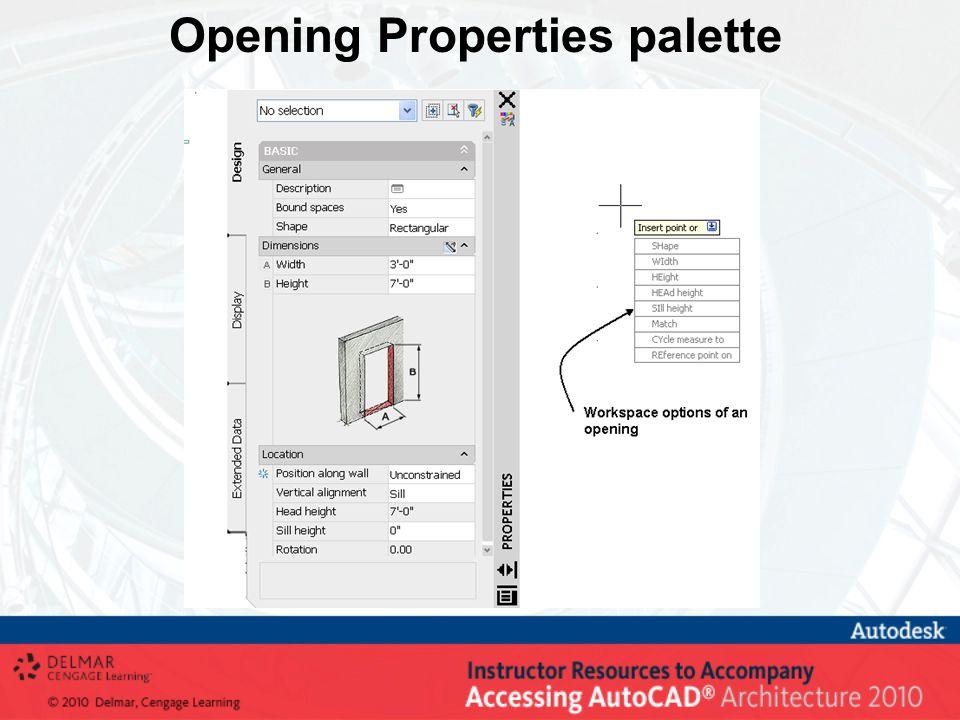 Opening Properties palette