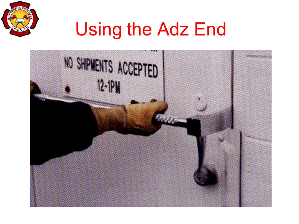 Using the Adz End