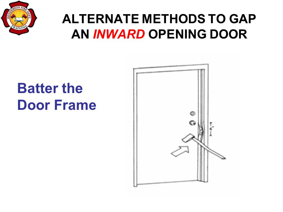 ALTERNATE METHODS TO GAP AN INWARD OPENING DOOR Batter the Door Frame